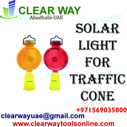 SOLAR LIGHT FOR TRAFFIC CONE DEALER IN MUSSAFAH , ABUDHABI , UAE from CLEAR WAY BUILDING MATERIALS TRADING