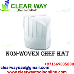 NON-WOVEN CHEF HATS DEALER IN MUSSAFAH , ABUDHABI , UAE from CLEAR WAY BUILDING MATERIALS TRADING