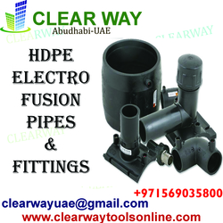HDPE ELECTRO FUSION PIPES AND FFITTINGS DEALER IN MUSSAFAH , ABUDHABI , UAE from CLEAR WAY BUILDING MATERIALS TRADING