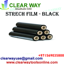 STRECH FILM - BLACK DEALER IN MUSSAFAH , ABUDHABI , UAE from CLEAR WAY BUILDING MATERIALS TRADING