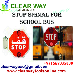 STOP SIGNAL FOR SCHOOL BUS DEALER IN MUSSAFAH , ABUDHABI ,UAE from CLEAR WAY BUILDING MATERIALS TRADING