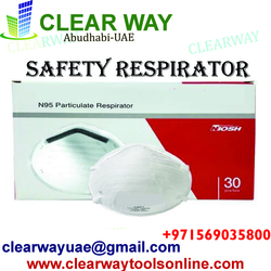 SAFETY RESPIRATOR (DISPOSABLE) DEALER IN MUSSAFAH , ABUDHABI , UAE from CLEAR WAY BUILDING MATERIALS TRADING
