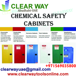 CHEMICAL SAFETY CABINETS DEALER IN MUSSAFAH , ABUDHABI ,UAE from CLEAR WAY BUILDING MATERIALS TRADING