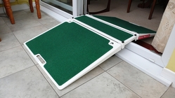 Folding Double Sided Threshold Ramp from KREND MEDICAL EQUIPMENT TRADING LLC