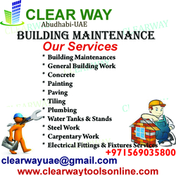 building maintenance work in mussafah , abudhabi ,uae from CLEAR WAY BUILDING MATERIALS TRADING