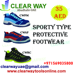 SPORTY TYPE PROTECTIVE FOOT WEAR DEALER IN MUSSAFAH , ABUDHABI , UAE from CLEAR WAY BUILDING MATERIALS TRADING