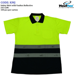 POLO T-SHIRT with VAULTEX REFLECTIVE (YELOW/BLACK) from ADEX  PHIJU@ADEXUAE.COM/ SALES@ADEXUAE.COM/0558763747/05640833058