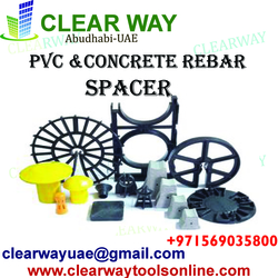 PVC & CONCRETE REBAR SPACER DEALER IN MUSSAFAH , ABUDHABI , UAE from CLEAR WAY BUILDING MATERIALS TRADING