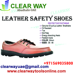LEATHER SAFETY SHOES DEALER IN MUSSAFAH , ABUDHABI ,UAE from CLEAR WAY BUILDING MATERIALS TRADING