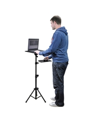 Adjustable Laptop Floor Stand suppliers in Qatar from AERODYNAMIC TRADING CONTRACTING & SERVICES , QATAR / TELE : 33190803 / SARATH@AERODYNAMIC.QA