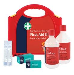Redcap™ Eye Wash & Skin Flush Kit from ARASCA MEDICAL EQUIPMENT TRADING LLC