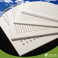 Perforated gypsum ceiling tile from LONG RANGE ENTERPRISE CO., LTD.
