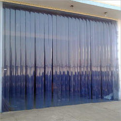 Transparent Clear Blue curtain supplier in Qatar