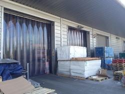 Transparent Clear Blue curtain roll in Qatar