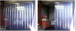 Transparent Clear Blue curtain distributors in Qatar