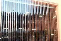 Transparent Clear Blue curtain installation companies in Qatar