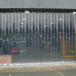 Transparent Clear Blue curtain installation company in Qatar