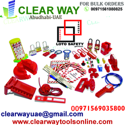 LOTO SAFETY GERMAN LOCKOUT TAGOUT KIT DEALER IN MUSSAFAH,ABUDHABI,UAE from CLEAR WAY BUILDING MATERIALS TRADING
