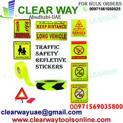TRAFFIC SAFETY REFLECTIVE STICKER DEALER IN MUSSAFAH , ABUDHABI ,UAE from CLEAR WAY BUILDING MATERIALS TRADING