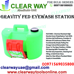 GRAVITY FED EYEWASH TANK 34LTR DEALER IN MUSSAFAH,ABUDHABI,UAE  from CLEAR WAY BUILDING MATERIALS TRADING