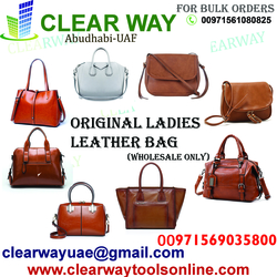 LADIES ORIGINAL LEATHER BAG DEALER IN MUSSAFAH , ABUDHABI , UAE from CLEAR WAY BUILDING MATERIALS TRADING