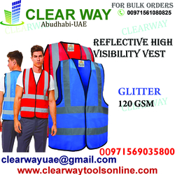 REFLECTIVE HIGH VISIBILITY VEST DEALER IN MUSSAFAH , ABUDHABI ,UAE from CLEAR WAY BUILDING MATERIALS TRADING