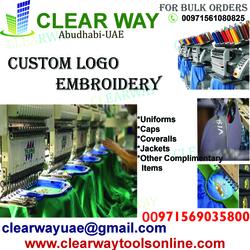 Custom Logo Embroidery Service In Mussafah , Abudhabi ,uae