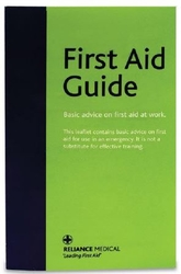 Reliance First Aid Guidance leaflet from ARASCA MEDICAL EQUIPMENT TRADING LLC