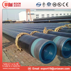 3PE Coated ERW Steel Pipe Line Pipe