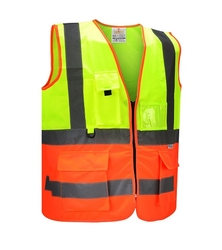 Dual Color Safety Vest - Multi Glow from SAMS GENERAL TRADING LLC
