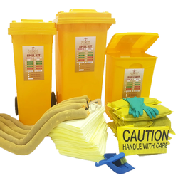 Empiral Chemical Spill Kit Wheeled Bin 20 Gallons (68 Liters) from SAMS GENERAL TRADING LLC