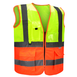Empiral Dual color Safety Vest Multi Glow  from SAMS GENERAL TRADING LLC