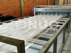 Fiberglass Poly FRP Roof Tile Sheet Making Manufacturing Machine