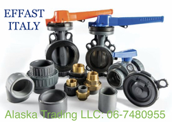Polypipe Effast Italy HP PVC fittings, Valves  from ALASKA TRADING LLC