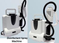 Disinfectant Spray Machine for sanitizing. Disinfection process Spray Machine for santization.