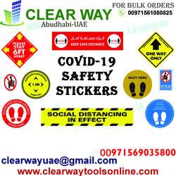 COVID-19 SAFETY STICKERS DEALER IN MUSSAFAH , ABUDHABI , UAE