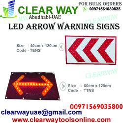 LED ARROW WARNING SIGNS DEALER IN MUSSAFAH , ABUDHABI , UAE