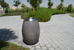 Concrete litter bin supplier in Saudi Arabia from ALCON CONCRETE PRODUCTS FACTORY LLC