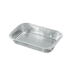 6.3*4.1 Inch 290 Ml Foil Containers Food Packaging Containers  Takeaway Aluminum Foil Tray And Container