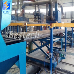 Steel Pipe Inner Wall shot Blasting Machine from QINGDAO BESTECH MACHINERY CO.,LTD