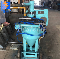 Car Paint Removal Dustless Sand Blasting Pot from QINGDAO BESTECH MACHINERY CO.,LTD