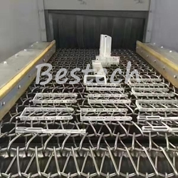 Wire Mesh Belt Shot Blasting Machine for Wheel Hub from QINGDAO BESTECH MACHINERY CO.,LTD