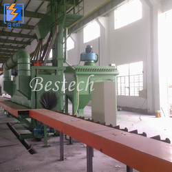Oil Pipeline Outer Surface Shot Blasting Machine from QINGDAO BESTECH MACHINERY CO.,LTD