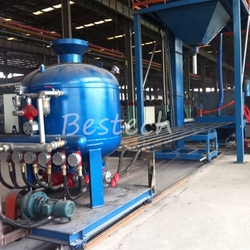 Round steel pipe rust removal shot blasting machine from QINGDAO BESTECH MACHINERY CO.,LTD