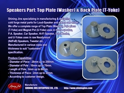T-yoke And Bottom Plate Speakers Part Made In Taiwan