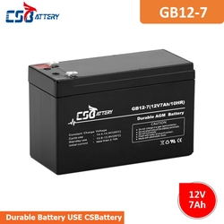 CSBattery 12V 7Ah Long-life AGM battery for UPS/computer-backup-power/Electric-Scooter/car