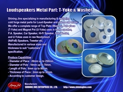 Professional Oem Manufacturer Forging Loudspeaker Parts Back Plate And Pot Yokes Made In Taiwan