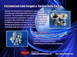 Custom Made Cold Forged And Precision Machined Metal Parts Made In Taiwan