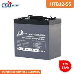 CSBattery 12V 55Ah Chargeable GEL Battery for Emergency-lighting/backup-power-supply/Electric-Wheel-Chair