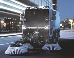 COMPACT ROAD SWEEPER FROM BUCHER MUNICIPAL